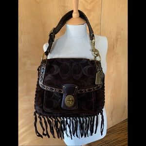 Coach Leather Purse with Fringe